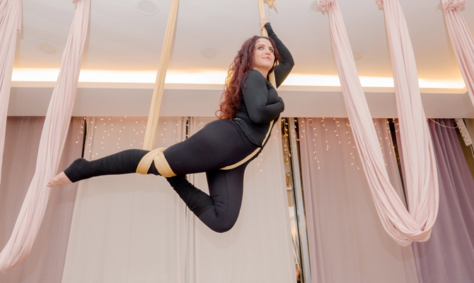 Saudi trapeze artist has soaring success with aerial yoga business