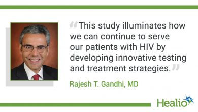 """""""This study illuminates how we can continue to serve our patients with HIV by developing innovative testing and treatment strategies."""" The source of the quote is: Rajesh T. Gandhi, MD."""