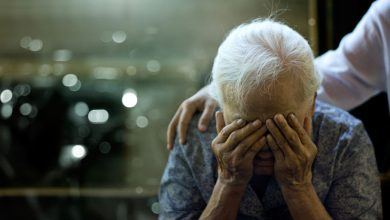 In the brain of a person with Alzheimer's disease, neurons degenerate and die, slowly eliminating memories and cognitive skills.
