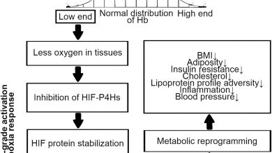 Systematic evaluation of the association between hemoglobin levels and metabolic profile implicates beneficial effects of hypoxia