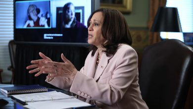 Kamala Harris drives to Walter Reed for a routine check-up