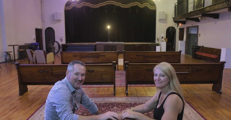 Couple takes shot at live venue with Lark Hall
