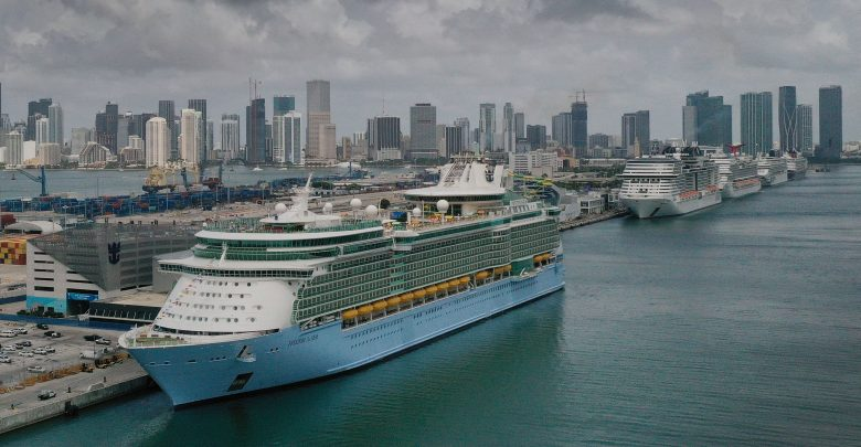 6 Covid cases were discovered on board a ship, according to Royal Caribbean;  Stocks fall