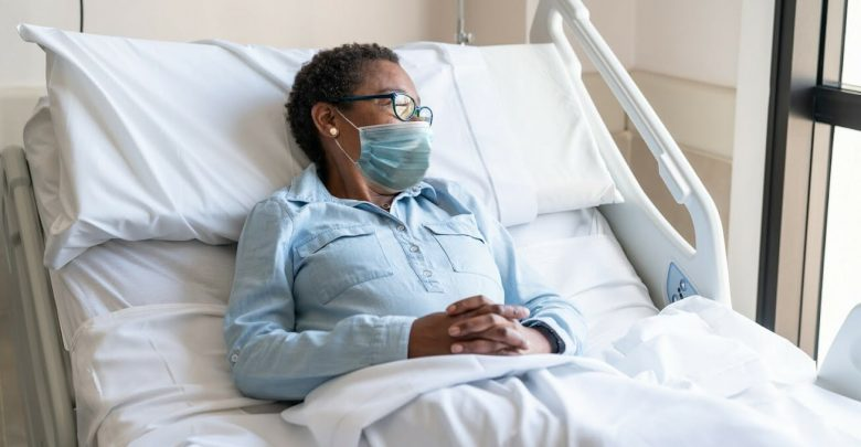 Monthly COVID-19 hospital stay rates peaked in December 2020