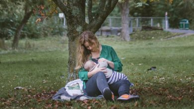 Breastfeeding mother and child