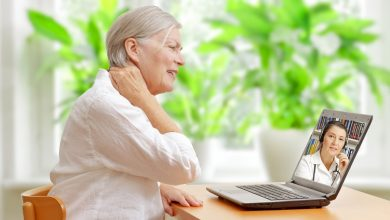 Patient and doctor engaging in telehealth