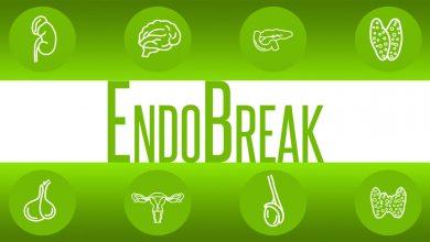 ENDOBREAK centered between 8 illustrated body organs.